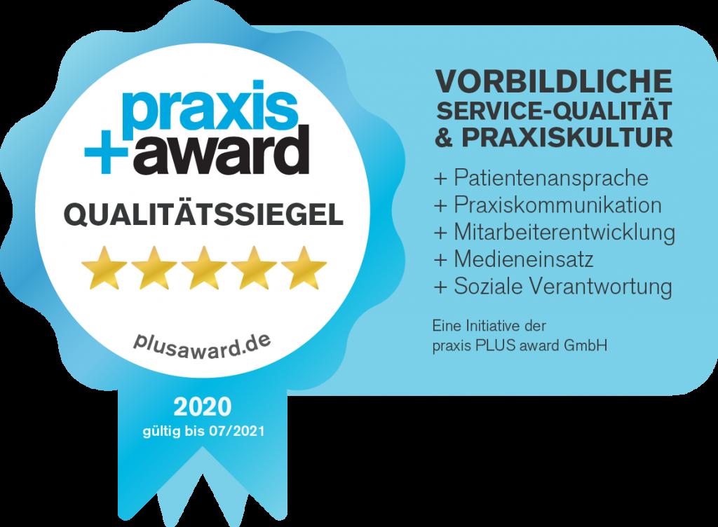 PraxisPlusAward Qualitaetssiegel Praxis Schöler + Werner